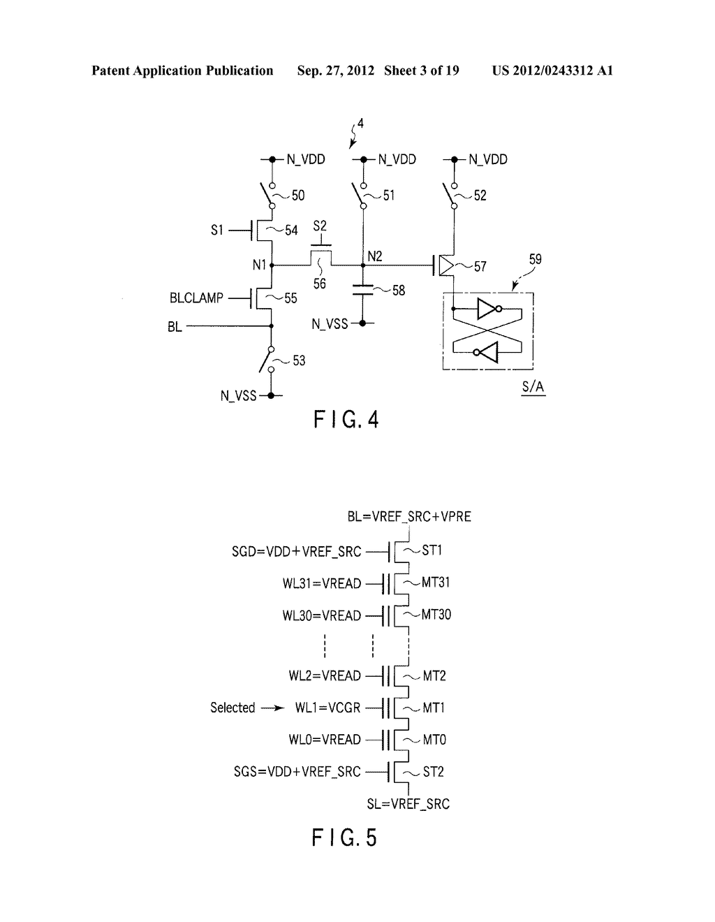 SEMICONDUCTOR MEMORY DEVICE COMPRISING MEMORY CELL HAVING CHARGE     ACCUMULATION LAYER AND CONTROL GATE AND METHOD OF ERASING DATA THEREOF - diagram, schematic, and image 04