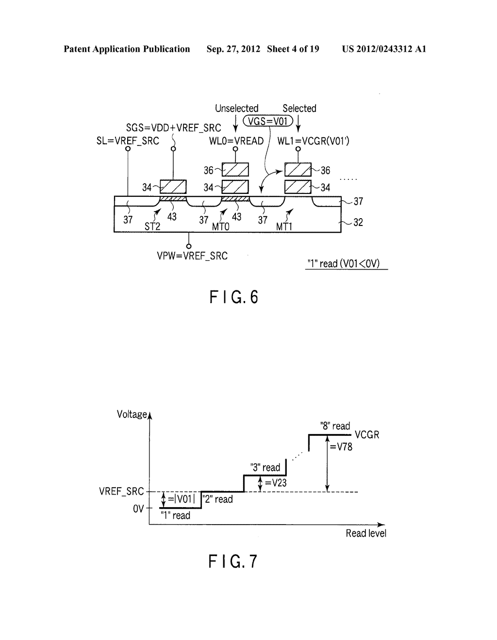 SEMICONDUCTOR MEMORY DEVICE COMPRISING MEMORY CELL HAVING CHARGE     ACCUMULATION LAYER AND CONTROL GATE AND METHOD OF ERASING DATA THEREOF - diagram, schematic, and image 05