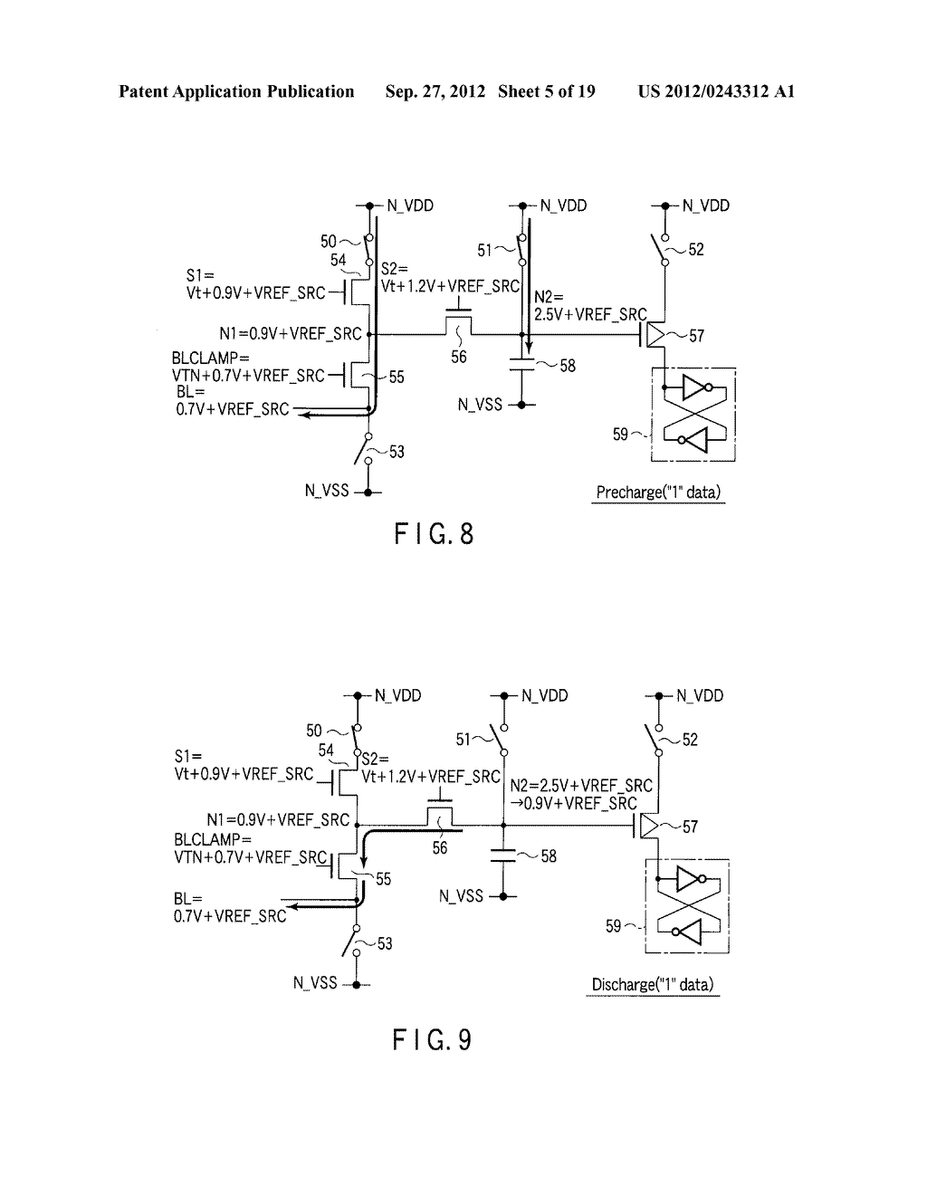 SEMICONDUCTOR MEMORY DEVICE COMPRISING MEMORY CELL HAVING CHARGE     ACCUMULATION LAYER AND CONTROL GATE AND METHOD OF ERASING DATA THEREOF - diagram, schematic, and image 06