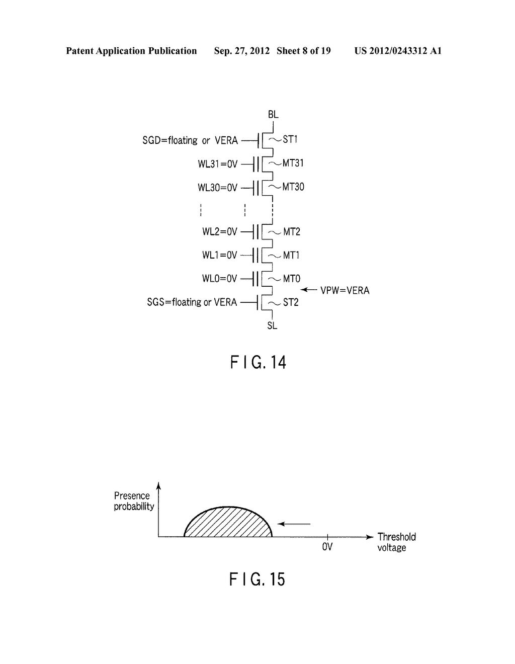 SEMICONDUCTOR MEMORY DEVICE COMPRISING MEMORY CELL HAVING CHARGE     ACCUMULATION LAYER AND CONTROL GATE AND METHOD OF ERASING DATA THEREOF - diagram, schematic, and image 09