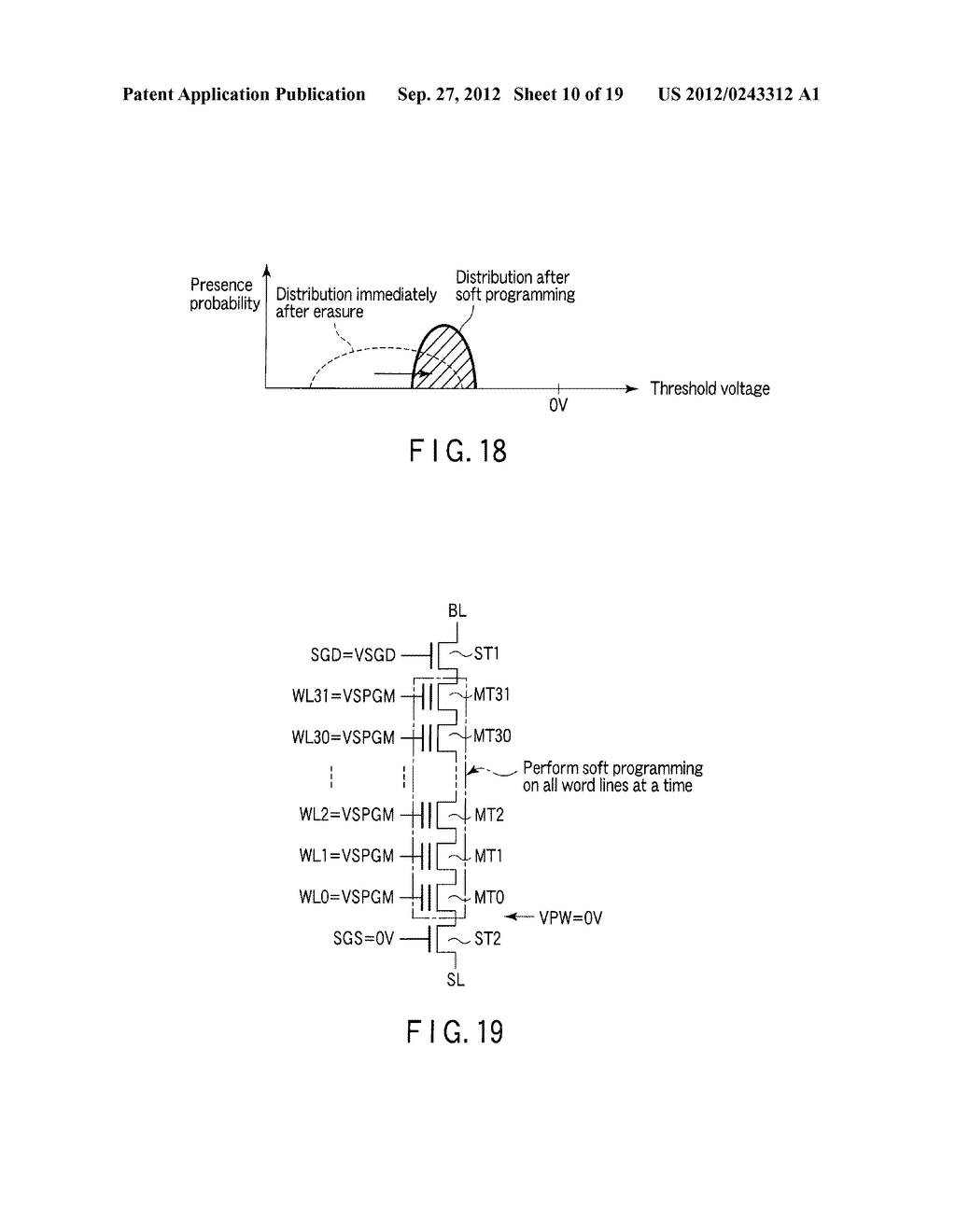 SEMICONDUCTOR MEMORY DEVICE COMPRISING MEMORY CELL HAVING CHARGE     ACCUMULATION LAYER AND CONTROL GATE AND METHOD OF ERASING DATA THEREOF - diagram, schematic, and image 11