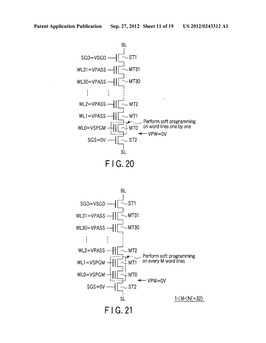SEMICONDUCTOR MEMORY DEVICE COMPRISING MEMORY CELL HAVING CHARGE     ACCUMULATION LAYER AND CONTROL GATE AND METHOD OF ERASING DATA THEREOF - diagram, schematic, and image 12