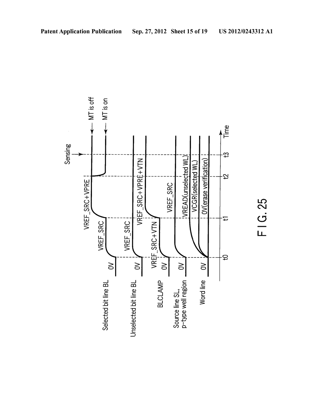 SEMICONDUCTOR MEMORY DEVICE COMPRISING MEMORY CELL HAVING CHARGE     ACCUMULATION LAYER AND CONTROL GATE AND METHOD OF ERASING DATA THEREOF - diagram, schematic, and image 16
