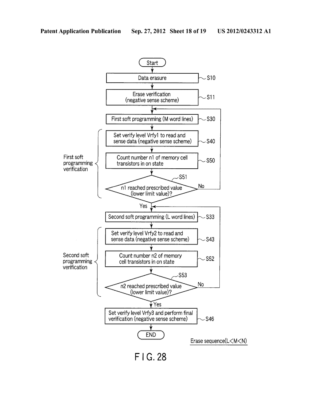 SEMICONDUCTOR MEMORY DEVICE COMPRISING MEMORY CELL HAVING CHARGE     ACCUMULATION LAYER AND CONTROL GATE AND METHOD OF ERASING DATA THEREOF - diagram, schematic, and image 19