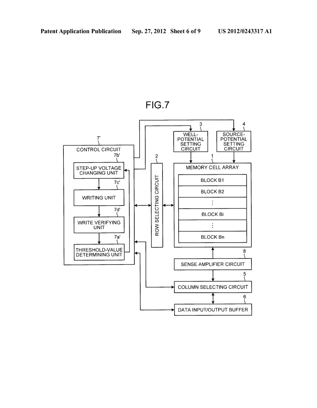 NON-VOLATILE SEMICONDUCTOR MEMORY DEVICE - diagram, schematic, and image 07