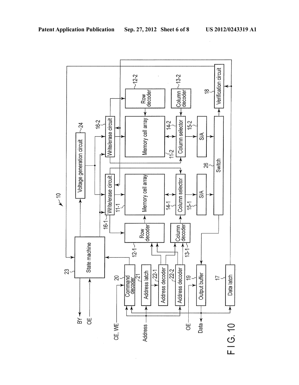 NONVOLATILE SEMICONDCUTOR MEMORY DEVICE, IC CARD AND PORTABLE APPARATUS - diagram, schematic, and image 07