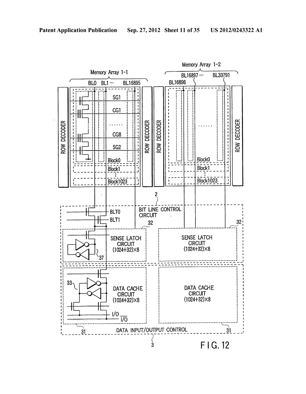 SEMICONDUCTOR INTEGRATED CIRCUIT ADAPTED TO OUTPUT PASS/FAIL RESULTS OF     INTERNAL OPERATIONS - diagram, schematic, and image 12
