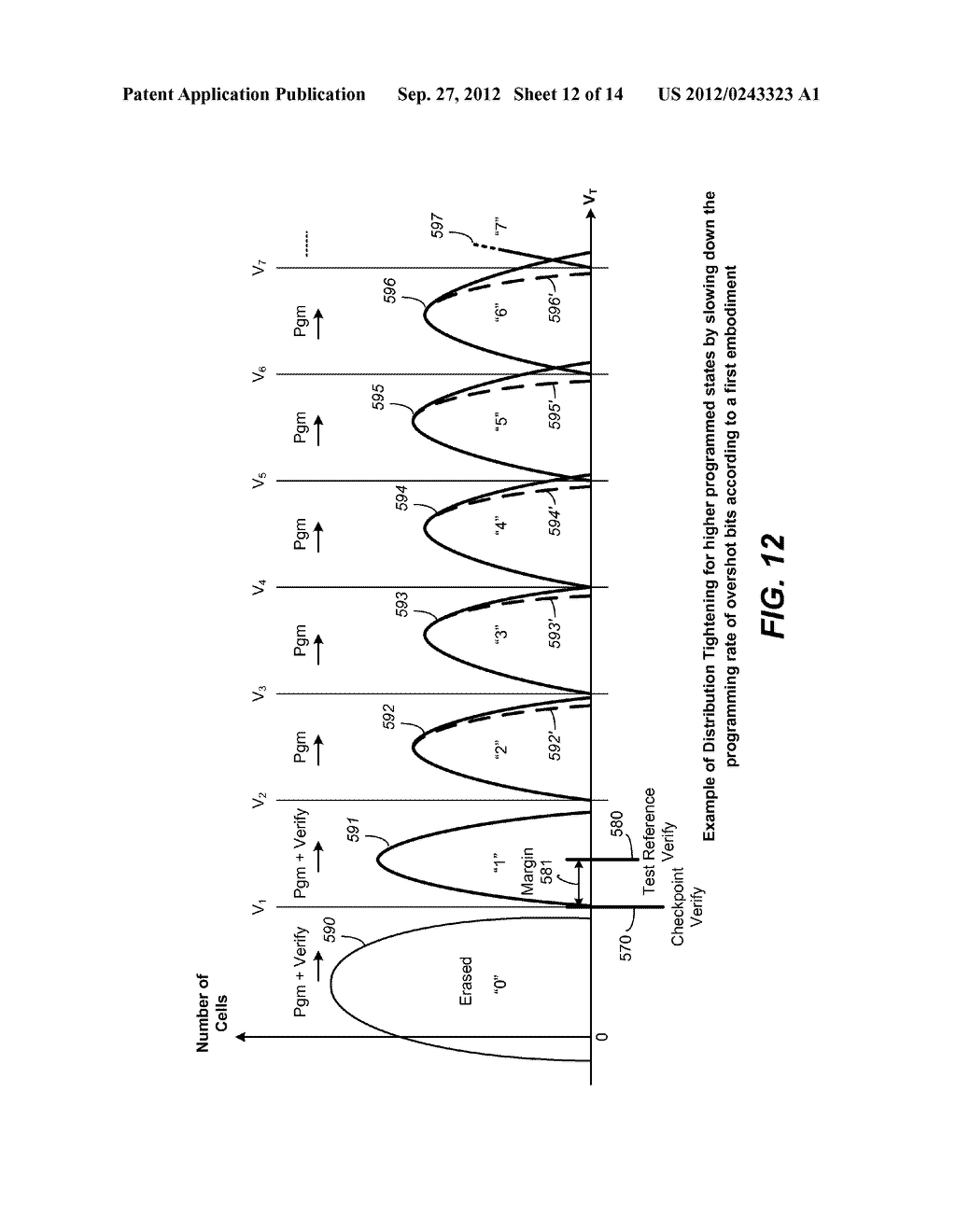 Nonvolatile Memory and Method for Improved Programming With Reduced Verify - diagram, schematic, and image 13