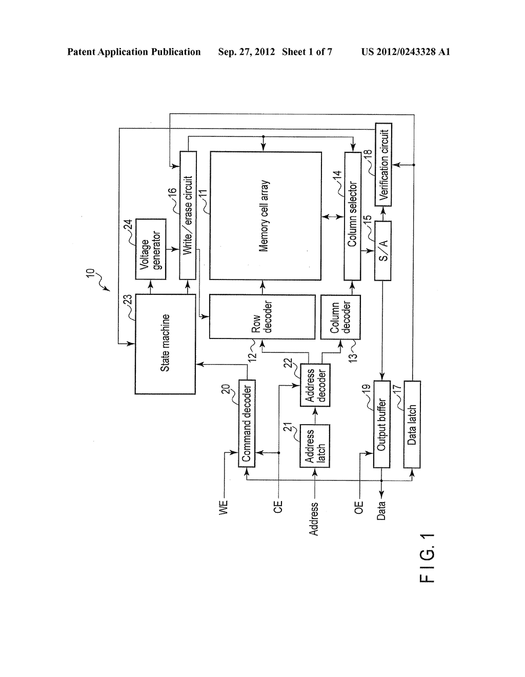 NONVOLATILE SEMICONDUCTOR MEMORY DEVICE AND DATA ERASE METHOD OF THE SAME - diagram, schematic, and image 02