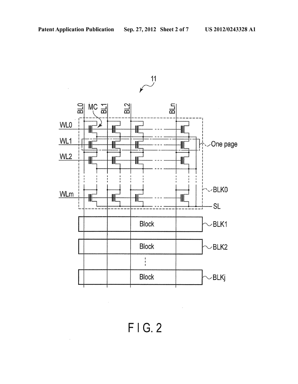 NONVOLATILE SEMICONDUCTOR MEMORY DEVICE AND DATA ERASE METHOD OF THE SAME - diagram, schematic, and image 03
