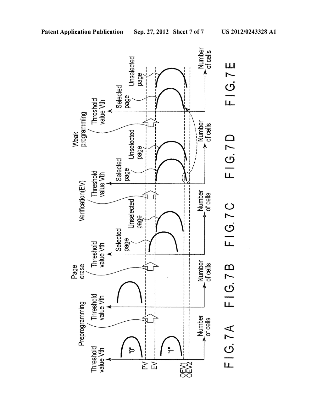 NONVOLATILE SEMICONDUCTOR MEMORY DEVICE AND DATA ERASE METHOD OF THE SAME - diagram, schematic, and image 08