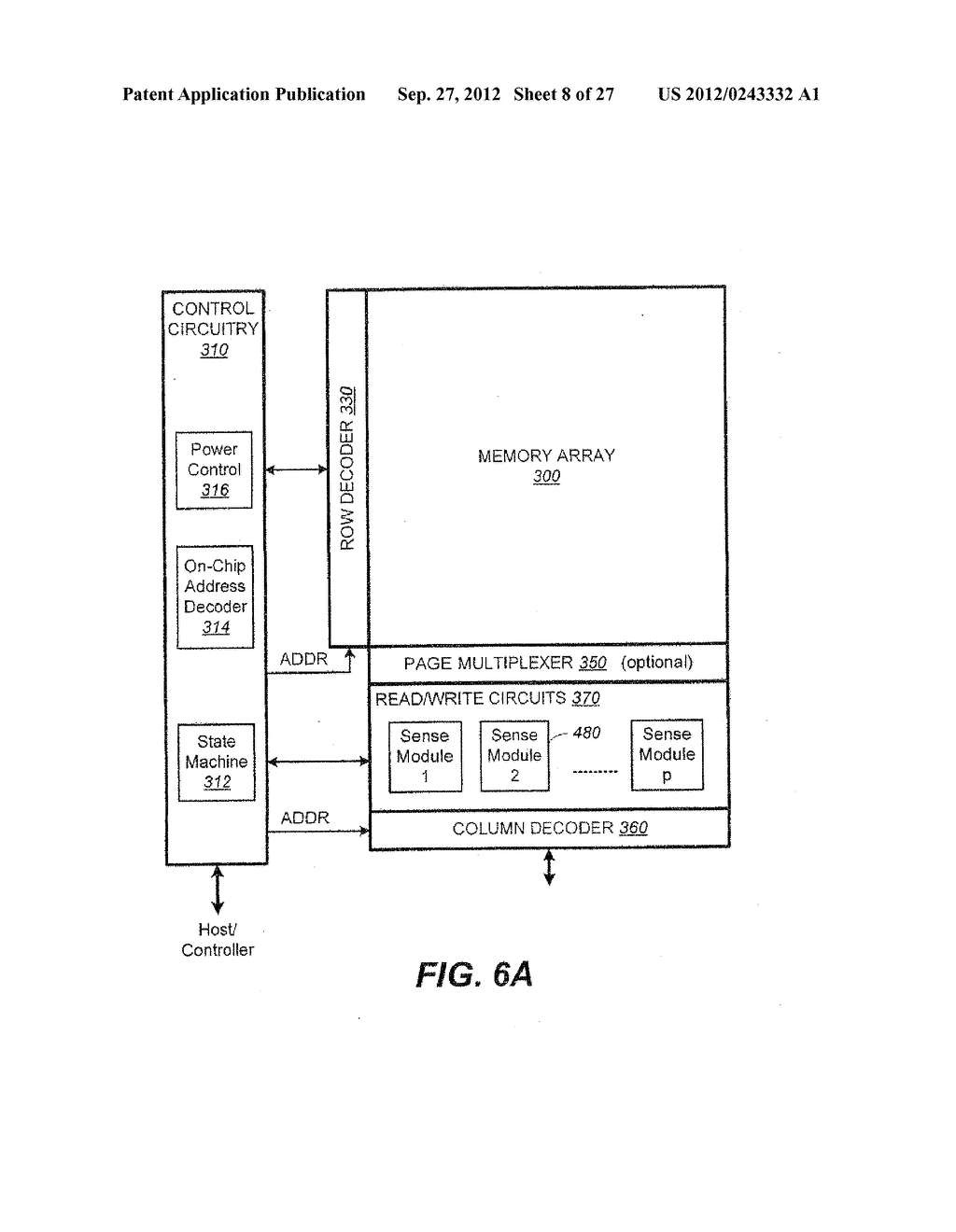 Non-Volatile Memory and Method with Power-Saving Read and Program-Verify     Operations - diagram, schematic, and image 09