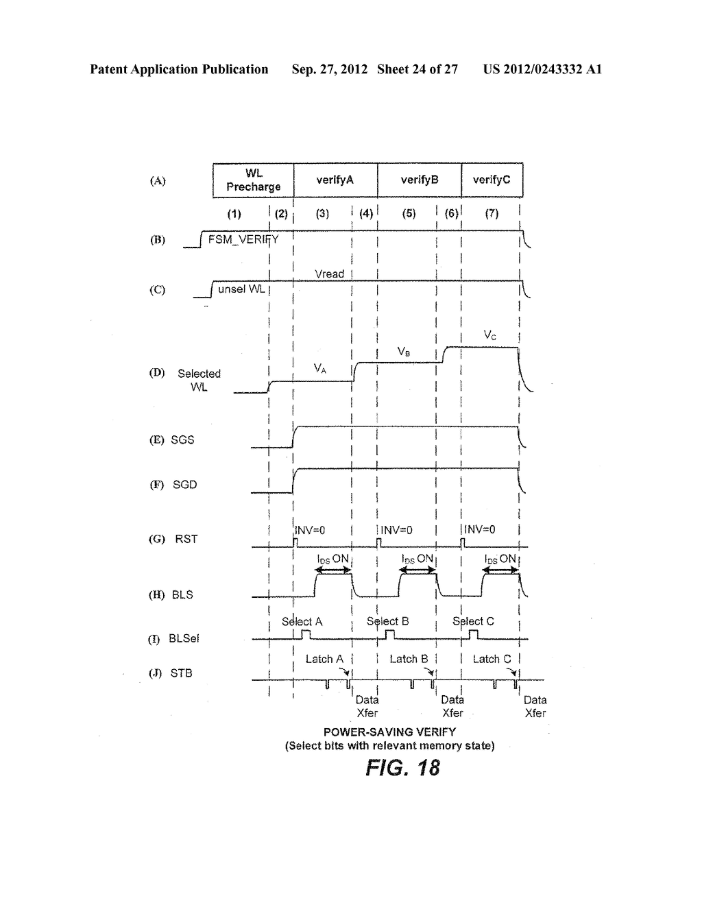 Non-Volatile Memory and Method with Power-Saving Read and Program-Verify     Operations - diagram, schematic, and image 25