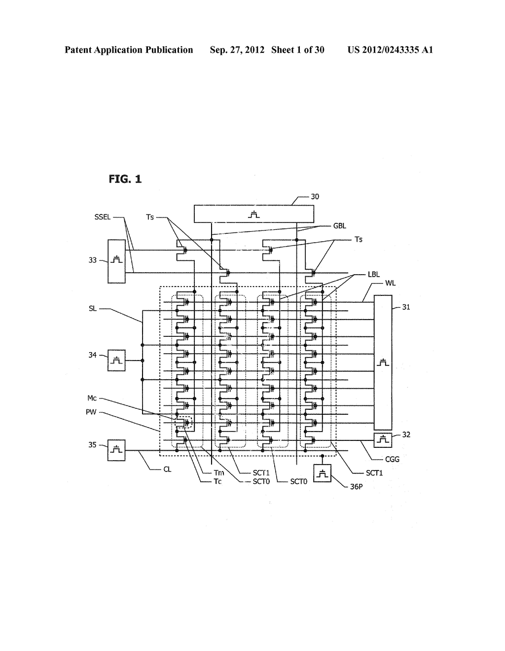 NON-VOLATILE SEMICONDUCTOR MEMORY WITH BIT LINE HIERARCHY - diagram, schematic, and image 02