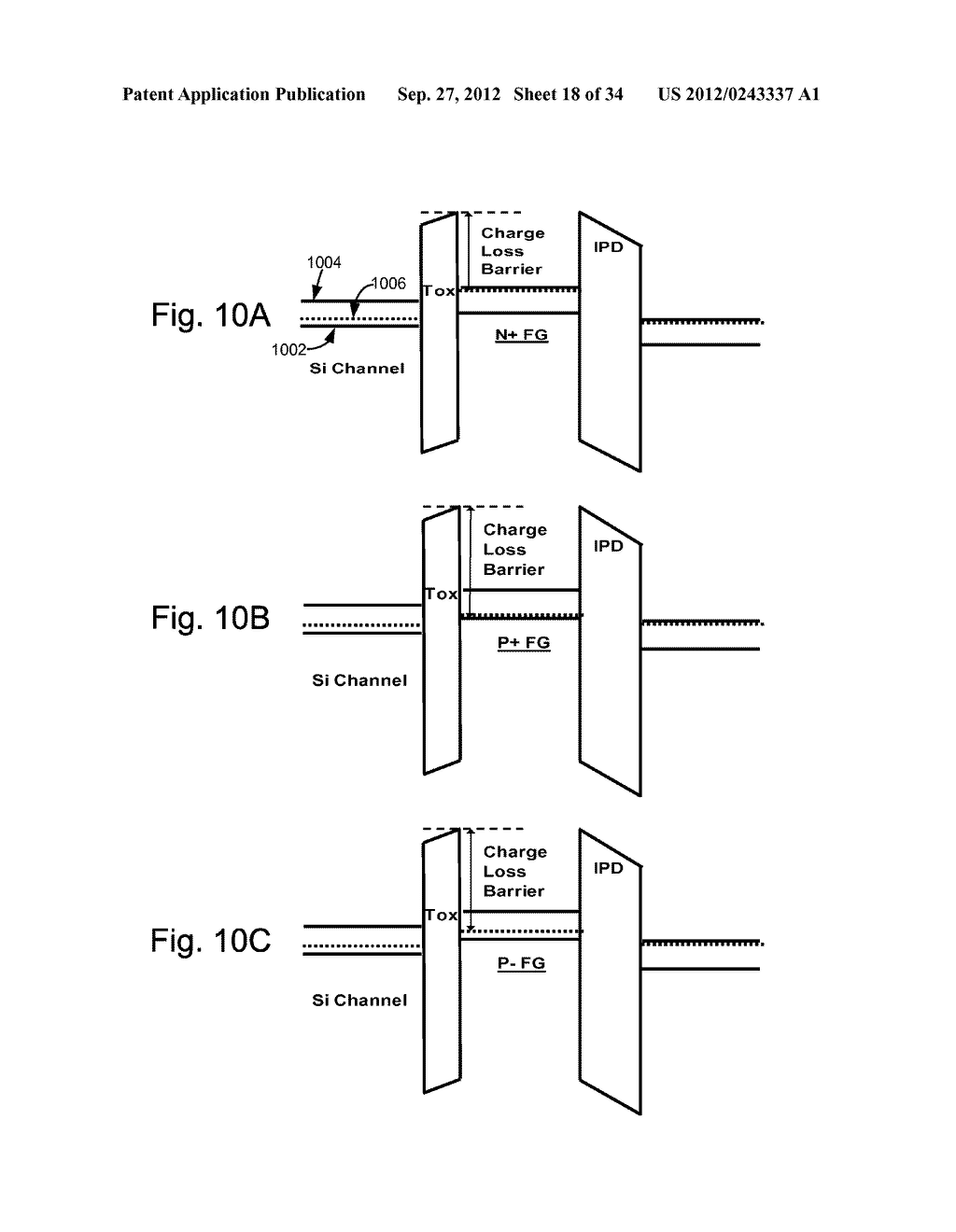 P-/METAL FLOATING GATE NON-VOLATILE STORAGE ELEMENT - diagram, schematic, and image 19