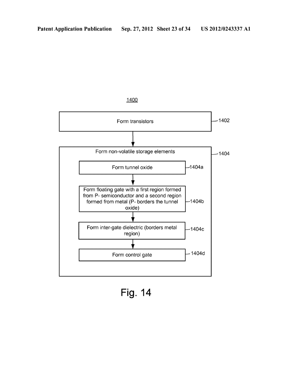 P-/METAL FLOATING GATE NON-VOLATILE STORAGE ELEMENT - diagram, schematic, and image 24