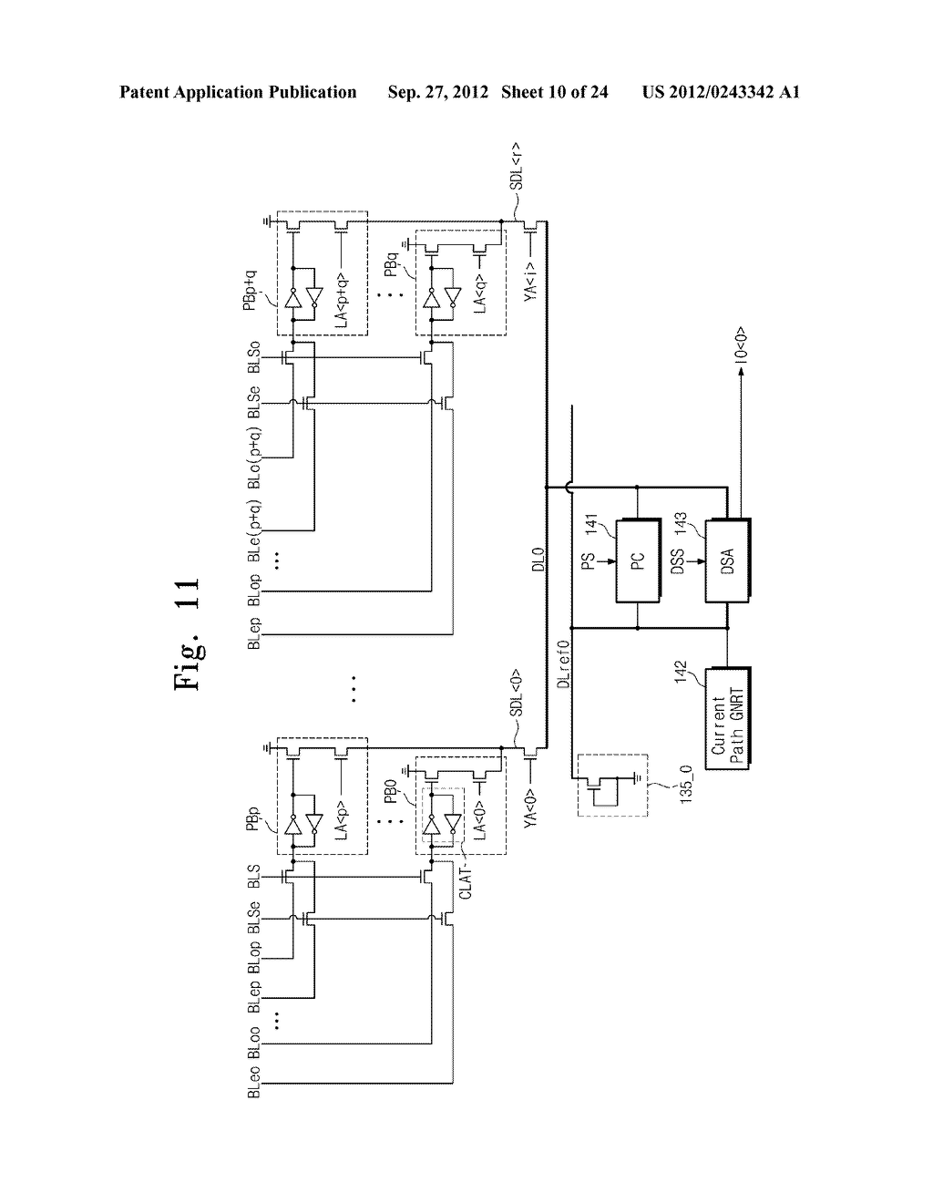 SENSE AMPLIFICATION CIRCUITS, OUTPUT CIRCUITS, NONVOLATILE MEMORY DEVICES,     MEMORY SYSTEMS, MEMORY CARDS HAVING THE SAME, AND DATA OUTPUTTING METHODS     THEREOF - diagram, schematic, and image 11