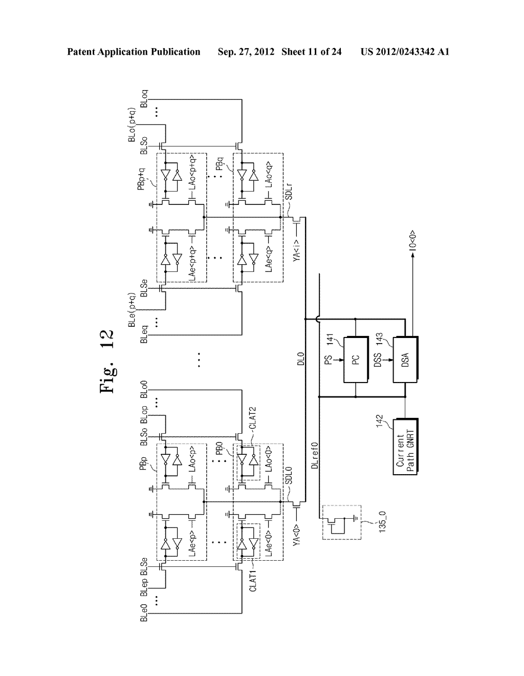 SENSE AMPLIFICATION CIRCUITS, OUTPUT CIRCUITS, NONVOLATILE MEMORY DEVICES,     MEMORY SYSTEMS, MEMORY CARDS HAVING THE SAME, AND DATA OUTPUTTING METHODS     THEREOF - diagram, schematic, and image 12