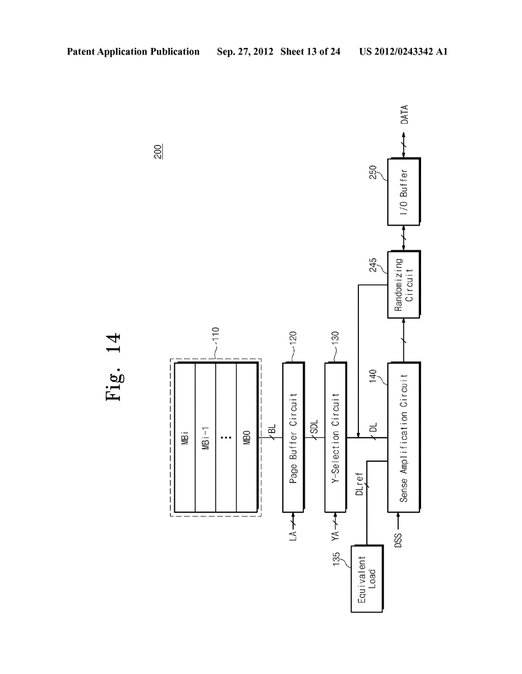 SENSE AMPLIFICATION CIRCUITS, OUTPUT CIRCUITS, NONVOLATILE MEMORY DEVICES,     MEMORY SYSTEMS, MEMORY CARDS HAVING THE SAME, AND DATA OUTPUTTING METHODS     THEREOF - diagram, schematic, and image 14