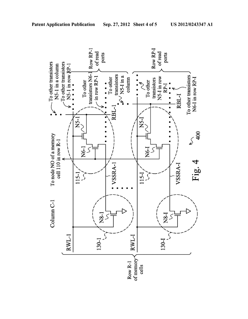 MEMORY CELLS HAVING A ROW-BASED READ AND/OR WRITE SUPPORT CIRCUITRY - diagram, schematic, and image 05