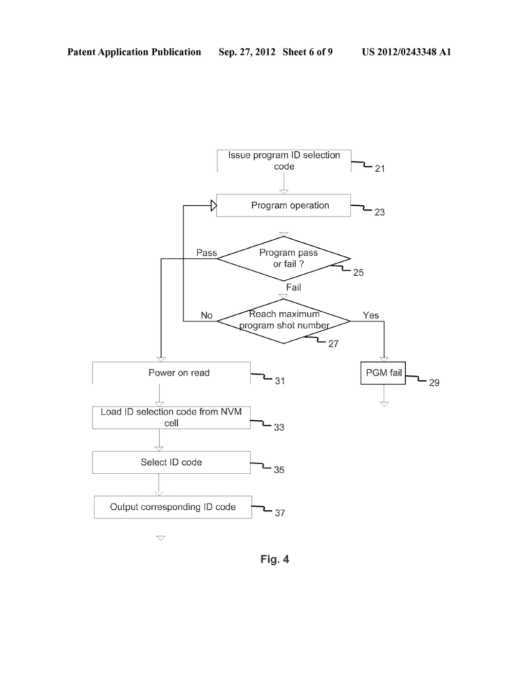 Method and Apparatus of Changing Device Identification Codes of a Memory     Integrated Circuit Device - diagram, schematic, and image 07