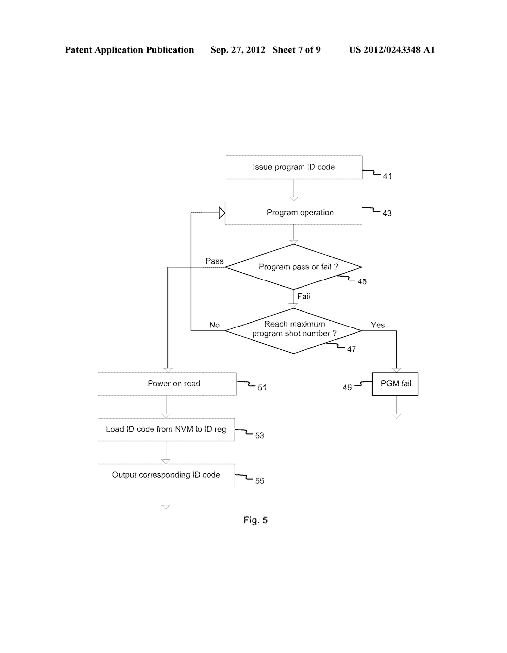Method and Apparatus of Changing Device Identification Codes of a Memory     Integrated Circuit Device - diagram, schematic, and image 08
