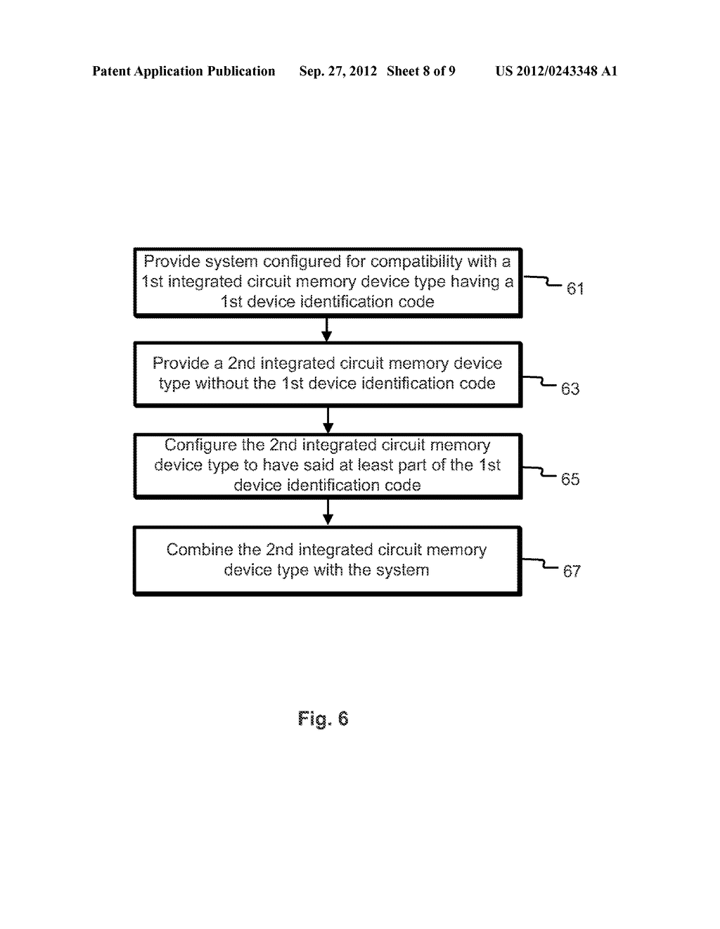 Method and Apparatus of Changing Device Identification Codes of a Memory     Integrated Circuit Device - diagram, schematic, and image 09