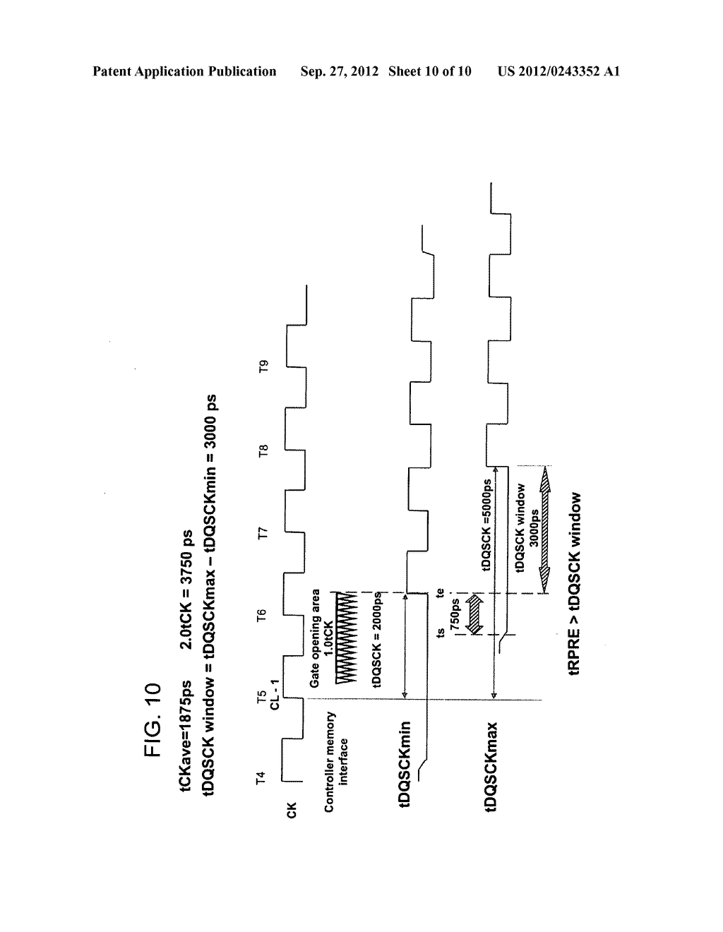 SEMICONDUCTOR MEMORY DEVICE, METHOD OF CONTROLLING READ PREAMBLE SIGNAL     THEREOF, AND DATA TRANSMISSION SYSTEM - diagram, schematic, and image 11