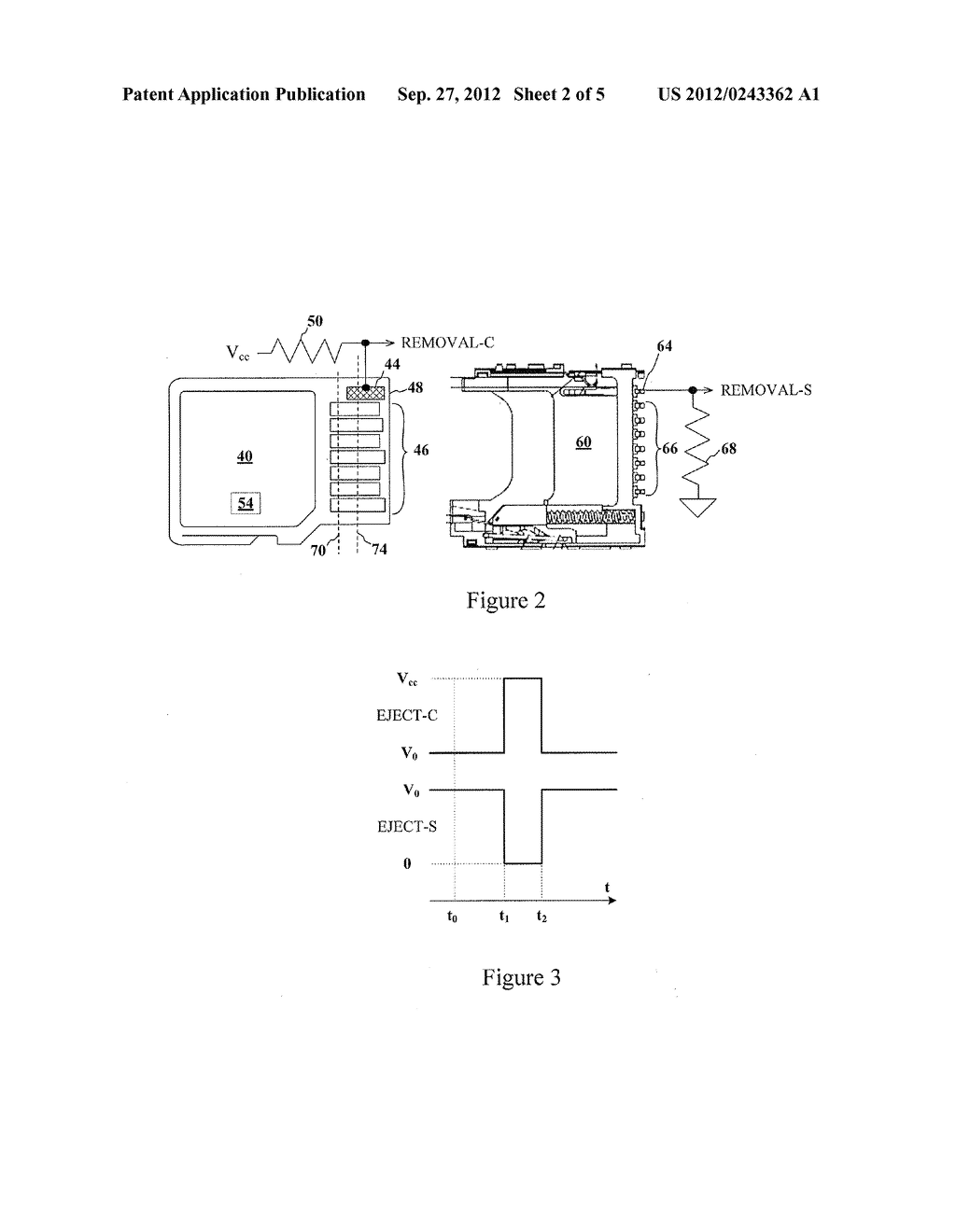 ADVANCED DETECTION OF MEMORY DEVICE REMOVAL, AND METHODS, DEVICES AND     CONNECTORS - diagram, schematic, and image 03