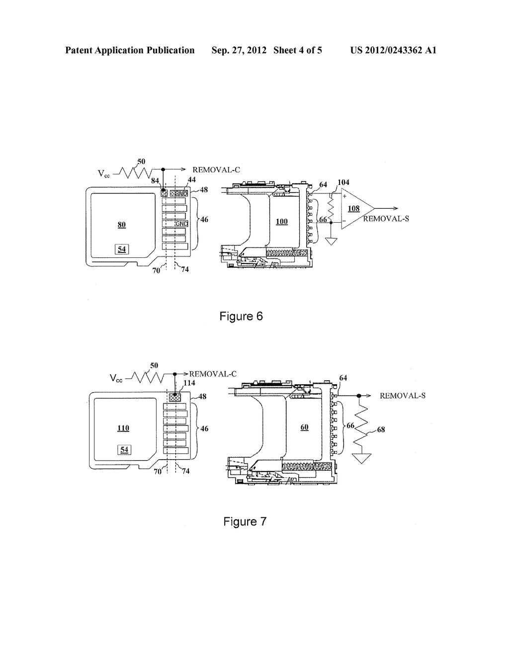 ADVANCED DETECTION OF MEMORY DEVICE REMOVAL, AND METHODS, DEVICES AND     CONNECTORS - diagram, schematic, and image 05
