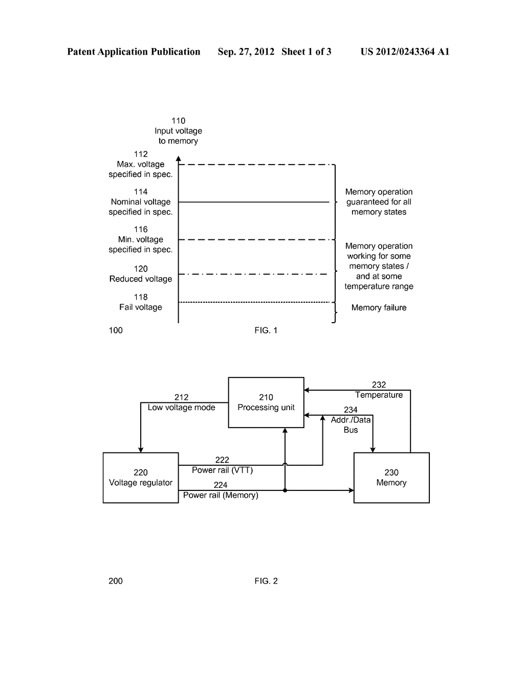 METHOD AND SYSTEM FOR DYNAMIC POWER MANAGEMENT OF MEMORIES - diagram, schematic, and image 02