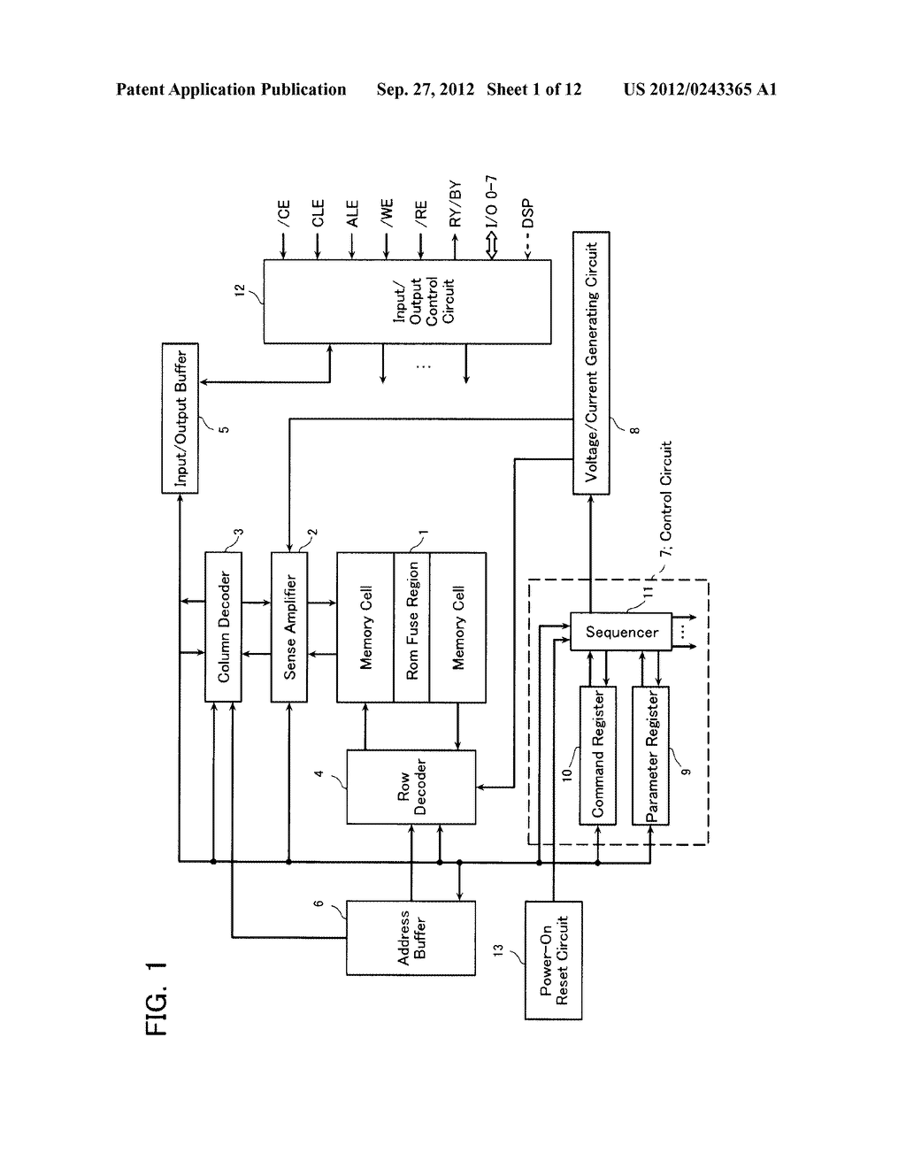 SEMICONDUCTOR MEMORY DEVICE AND METHOD OF SETTING OPERATION ENVIRONMENT     THEREIN - diagram, schematic, and image 02