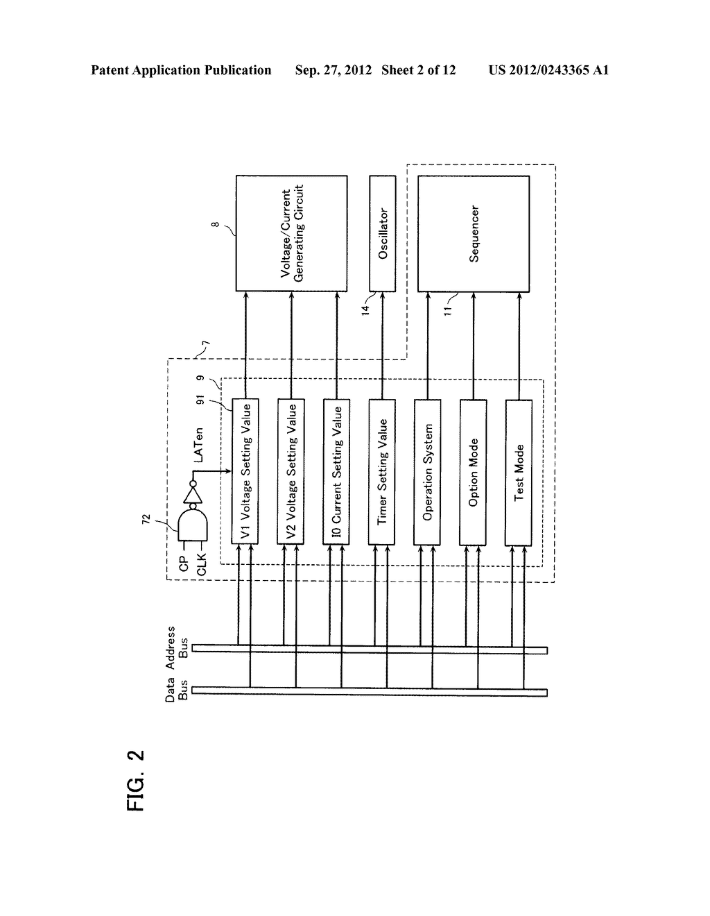 SEMICONDUCTOR MEMORY DEVICE AND METHOD OF SETTING OPERATION ENVIRONMENT     THEREIN - diagram, schematic, and image 03