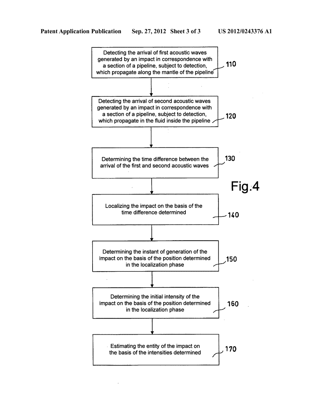 SYSTEM AND METHOD FOR THE CONTINUOUS DETECTION OF IMPACTS ON PIPELINES FOR     THE TRANSPORTATION OF FLUIDS, PARTICULARLY SUITABLE FOR UNDERWATER     PIPELINES - diagram, schematic, and image 04