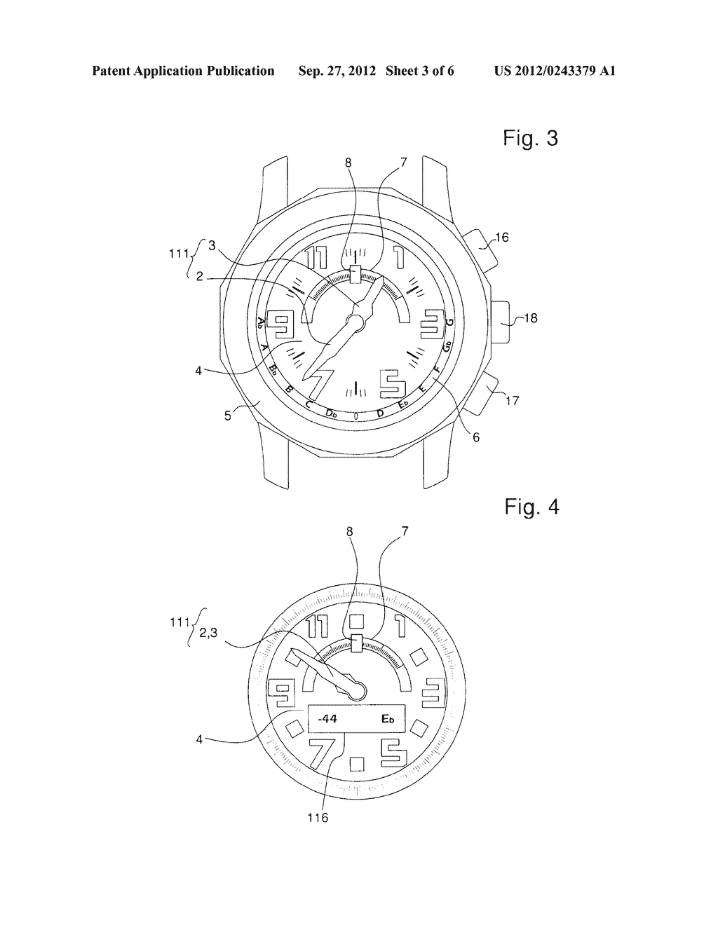 WATCH WITH AN INTEGRATED CHROMATIC TUNER - diagram, schematic, and image 04
