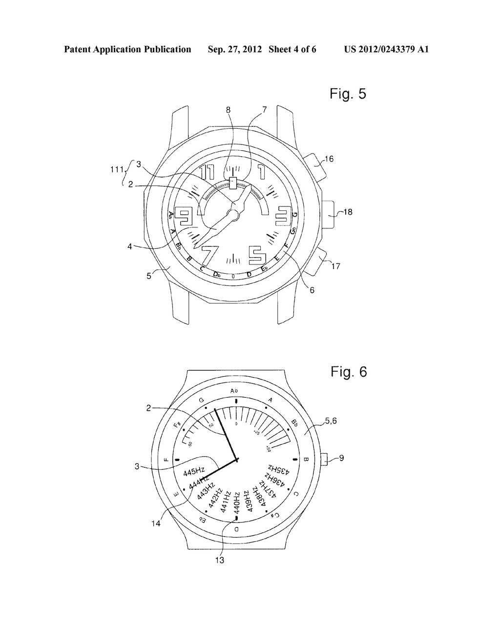WATCH WITH AN INTEGRATED CHROMATIC TUNER - diagram, schematic, and image 05
