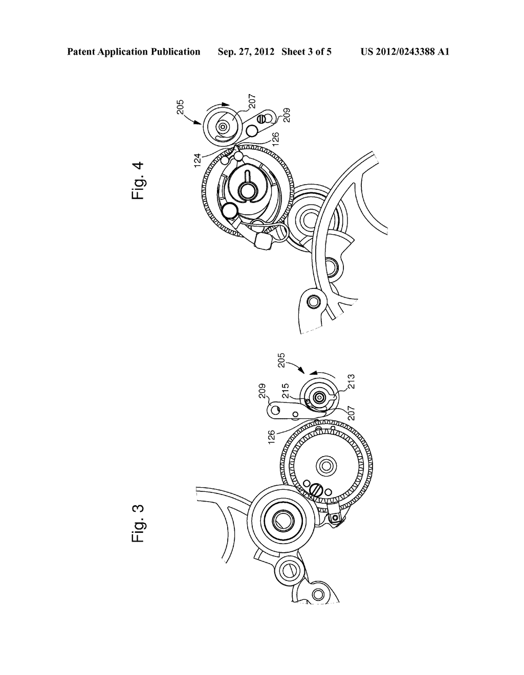 TIMEPIECE MOVEMENT INCLUDING AN INSTANTANEOUS ACTUATOR CONTROLLED BY THE     MOVEMENT - diagram, schematic, and image 04