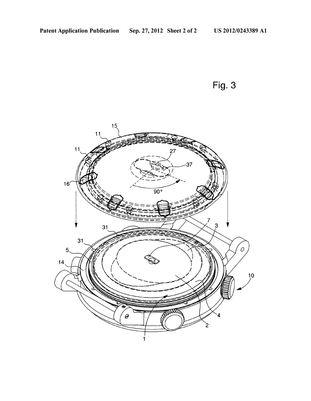 REMOVABLE ACOUSTIC RADIATING MEMBRANE FOR A MUSICAL WATCH OR STRIKING     WATCH AND WATCH INCLUDING THE SAME - diagram, schematic, and image 03