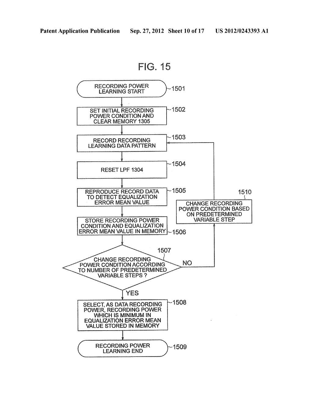 OPTICAL INFORMATION RECORDING METHOD, OPTICAL INFORMATION REPRODUCTION     METHOD AND OPTICAL DISK DEVICE - diagram, schematic, and image 11