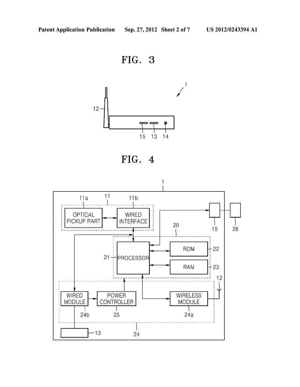 WIRELESS OPTICAL DISC APPARATUS AND METHOD OF OPERATING THE SAME - diagram, schematic, and image 03