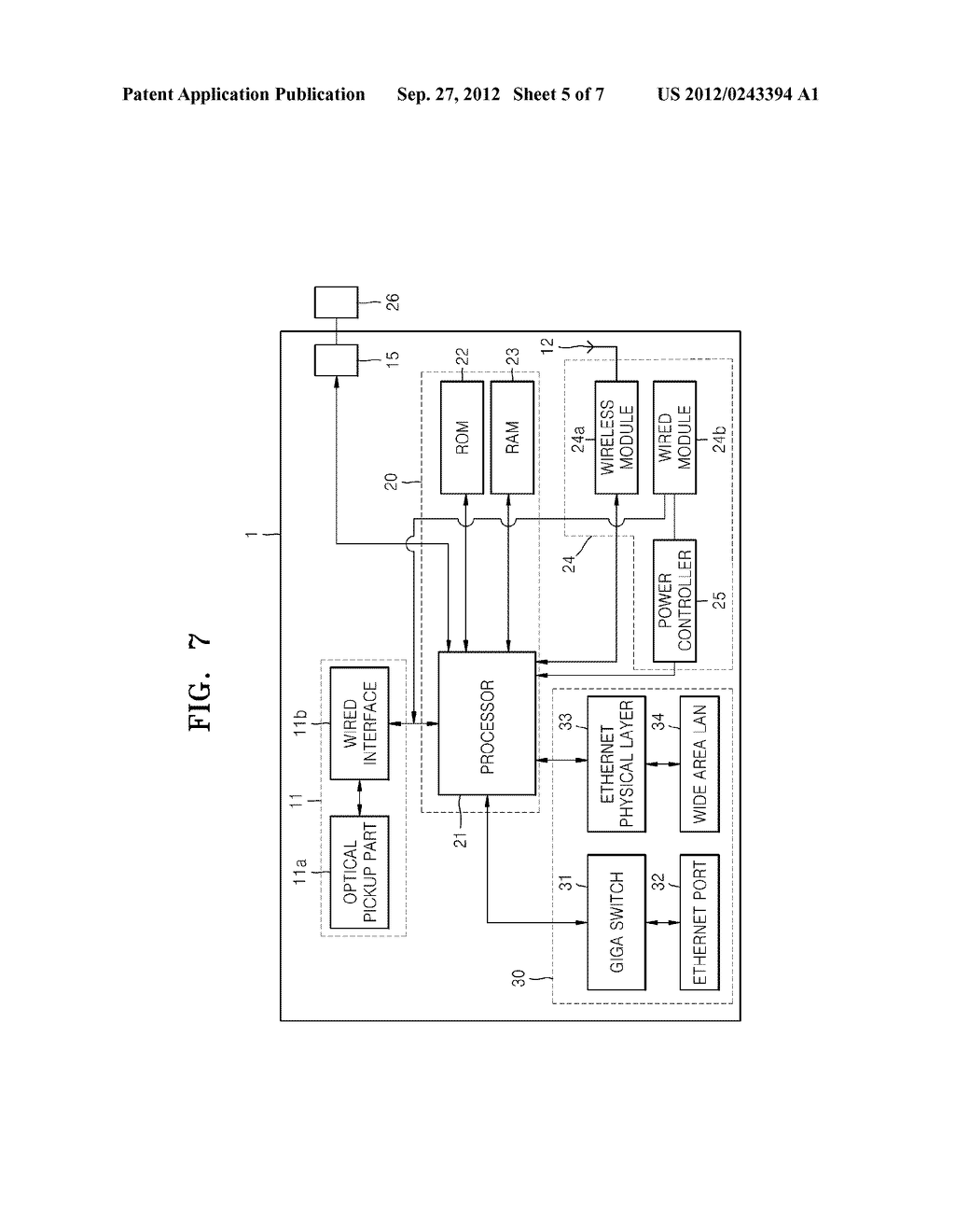 WIRELESS OPTICAL DISC APPARATUS AND METHOD OF OPERATING THE SAME - diagram, schematic, and image 06
