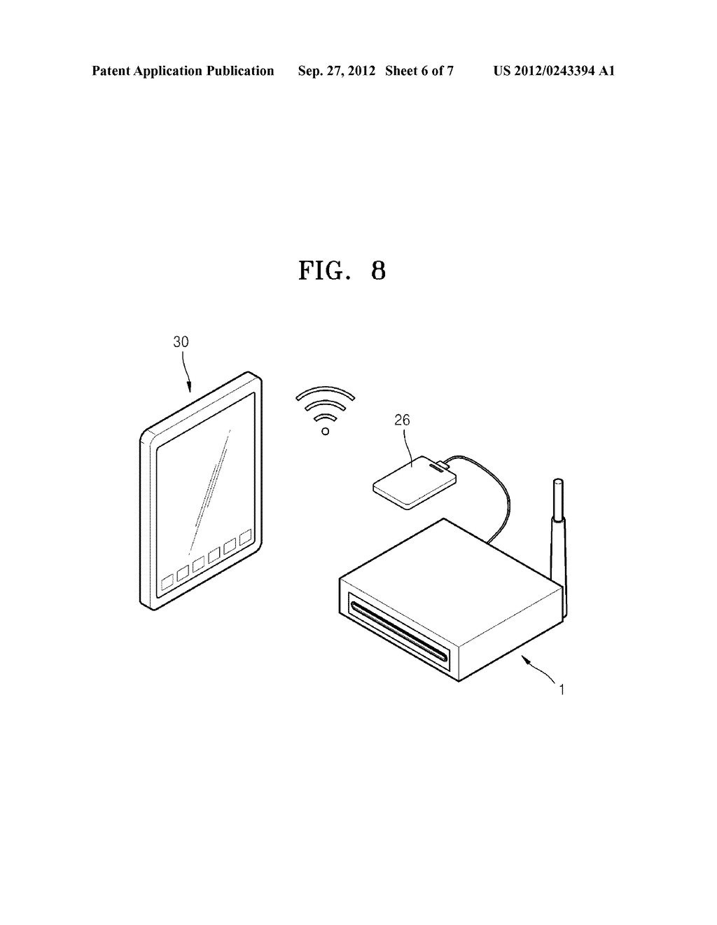 WIRELESS OPTICAL DISC APPARATUS AND METHOD OF OPERATING THE SAME - diagram, schematic, and image 07