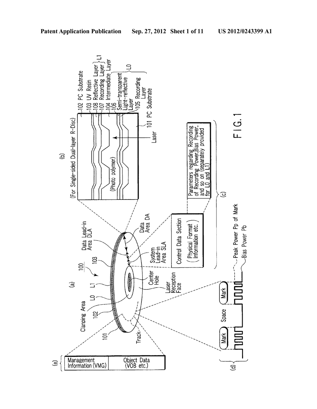 MULTI-LAYER OPTICAL DISC, INFORMATION RECORDING METHOD AND INFORMATION     REPRODUCING METHOD - diagram, schematic, and image 02