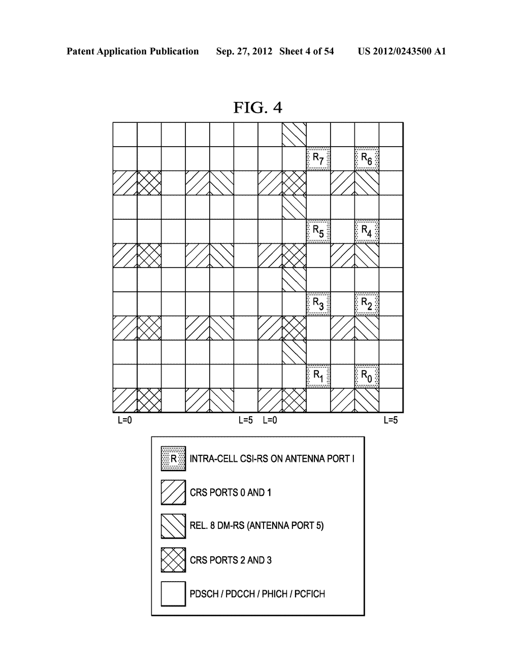 Multi-Cell Channel State Information-Reference Symbol Patterns for Long     Term Evolution Extended Cyclic Prefix and Code Division Multiplexing-Time     Multiplexing - diagram, schematic, and image 05