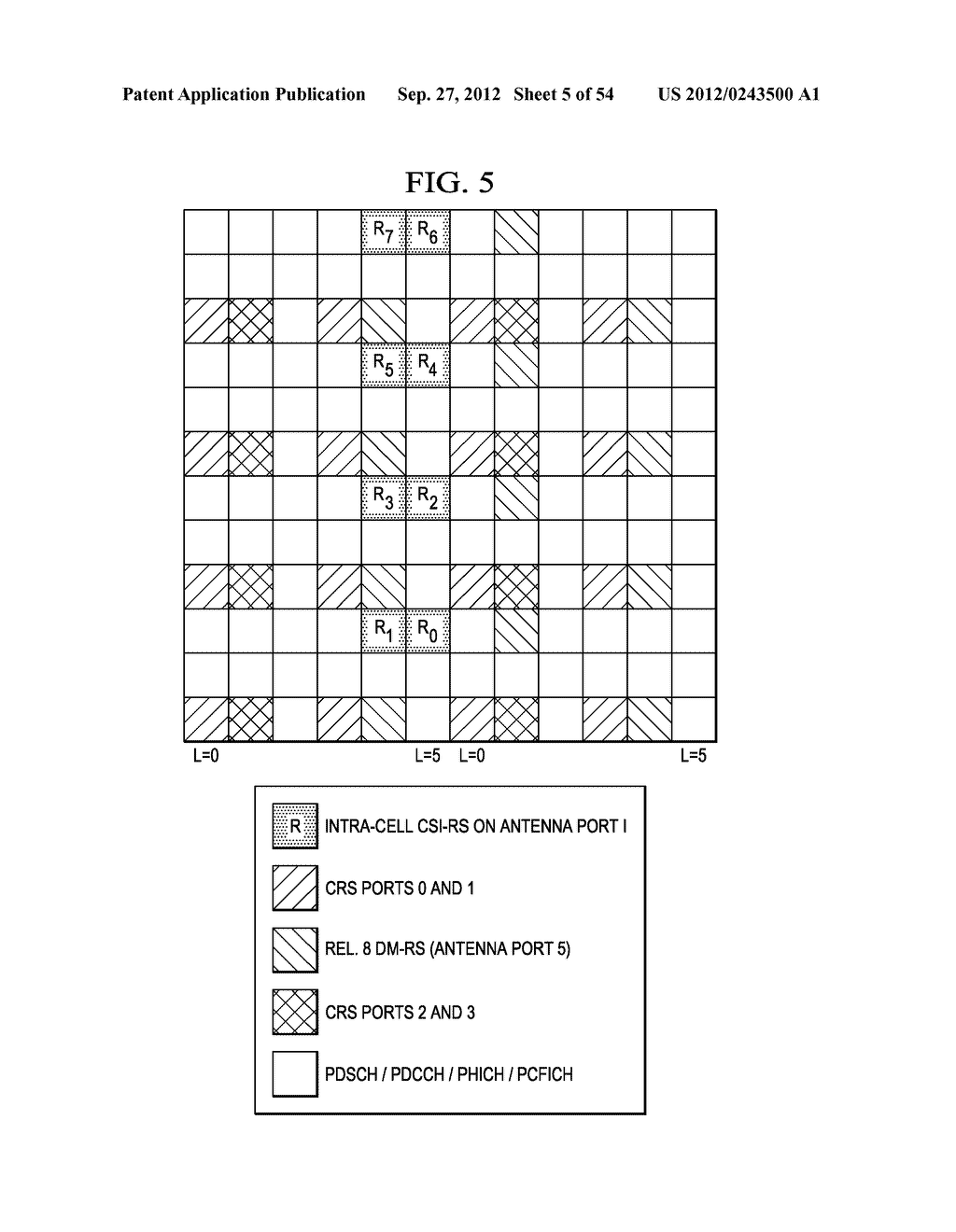 Multi-Cell Channel State Information-Reference Symbol Patterns for Long     Term Evolution Extended Cyclic Prefix and Code Division Multiplexing-Time     Multiplexing - diagram, schematic, and image 06