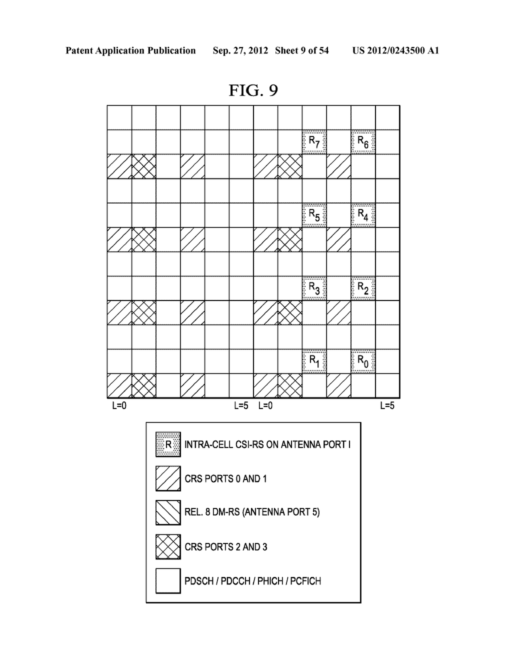 Multi-Cell Channel State Information-Reference Symbol Patterns for Long     Term Evolution Extended Cyclic Prefix and Code Division Multiplexing-Time     Multiplexing - diagram, schematic, and image 10
