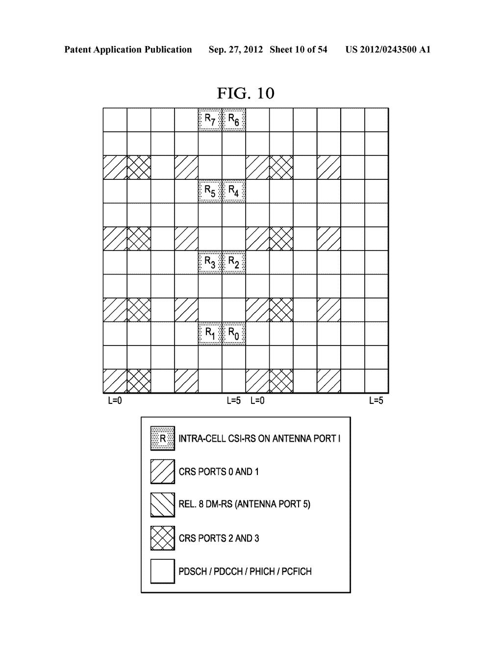 Multi-Cell Channel State Information-Reference Symbol Patterns for Long     Term Evolution Extended Cyclic Prefix and Code Division Multiplexing-Time     Multiplexing - diagram, schematic, and image 11