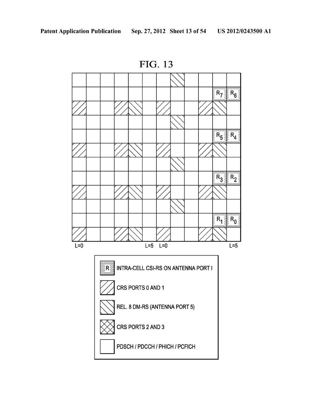 Multi-Cell Channel State Information-Reference Symbol Patterns for Long     Term Evolution Extended Cyclic Prefix and Code Division Multiplexing-Time     Multiplexing - diagram, schematic, and image 14