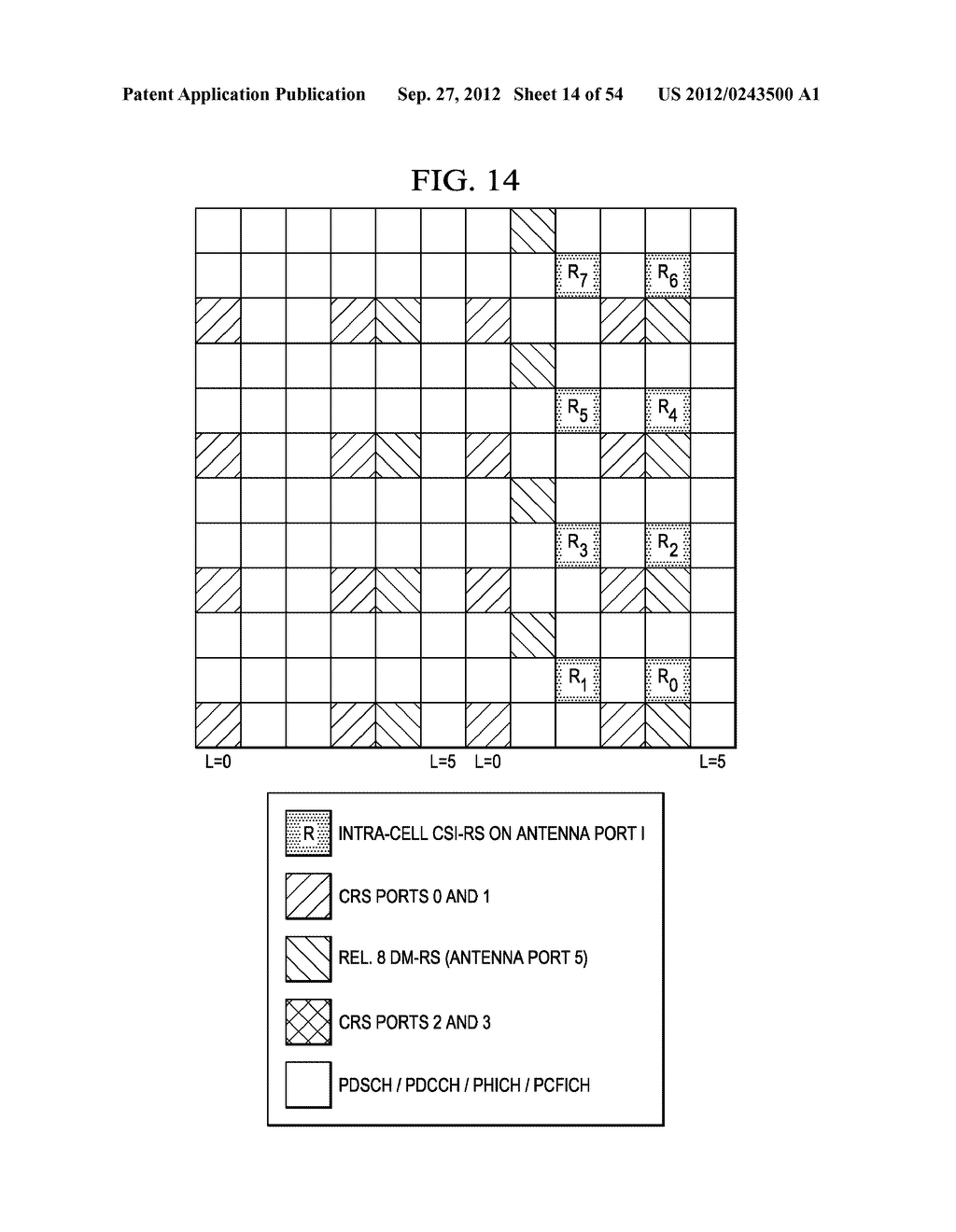Multi-Cell Channel State Information-Reference Symbol Patterns for Long     Term Evolution Extended Cyclic Prefix and Code Division Multiplexing-Time     Multiplexing - diagram, schematic, and image 15