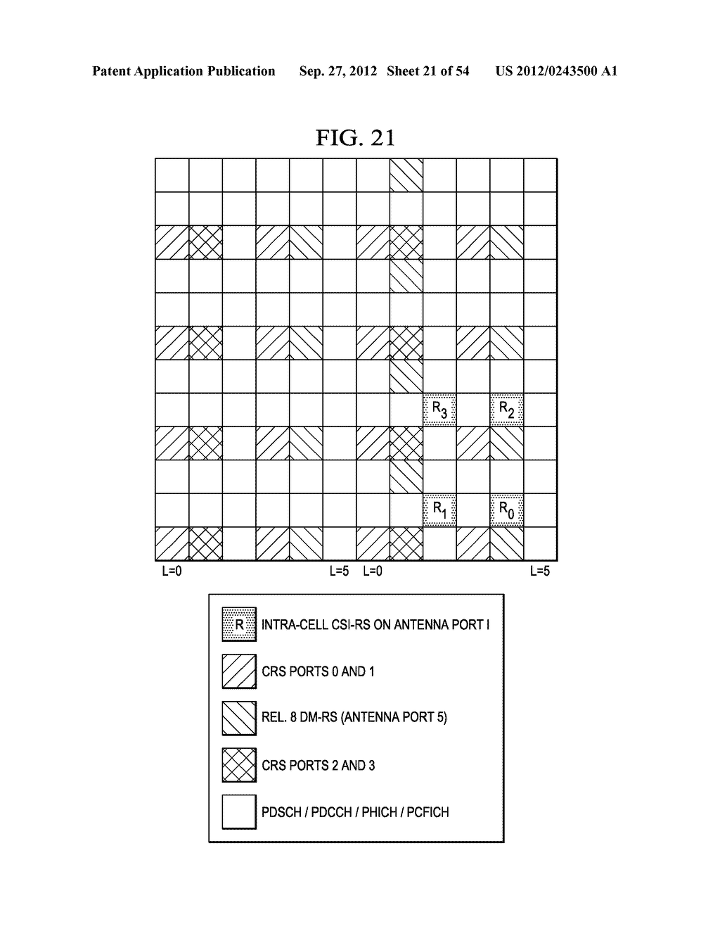 Multi-Cell Channel State Information-Reference Symbol Patterns for Long     Term Evolution Extended Cyclic Prefix and Code Division Multiplexing-Time     Multiplexing - diagram, schematic, and image 22